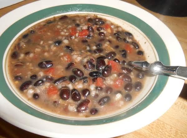 Black Bean & Brown Rice Soup
