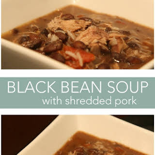 Black Bean Soup with Shredded Pork {recipe}.
