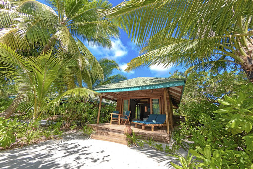 One of the laid-back villas at Canareef Resort in the Maldives.