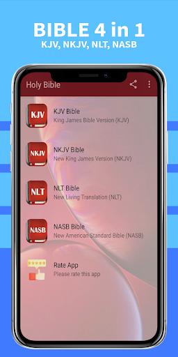 Bible Multiple Versions, KJV, NKJV, NLT, NASB Free 6.34 screenshots 1