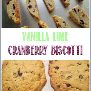 Vanilla Lime Cranberry Biscotti