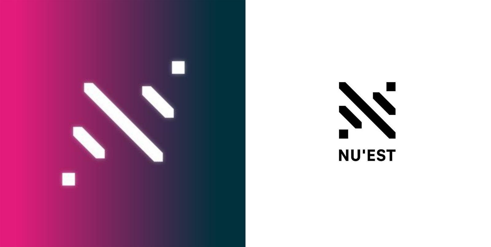 nu'est twitter logos