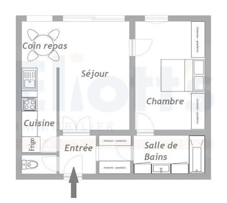 Vente appartement 2 pièces 47,11 m2