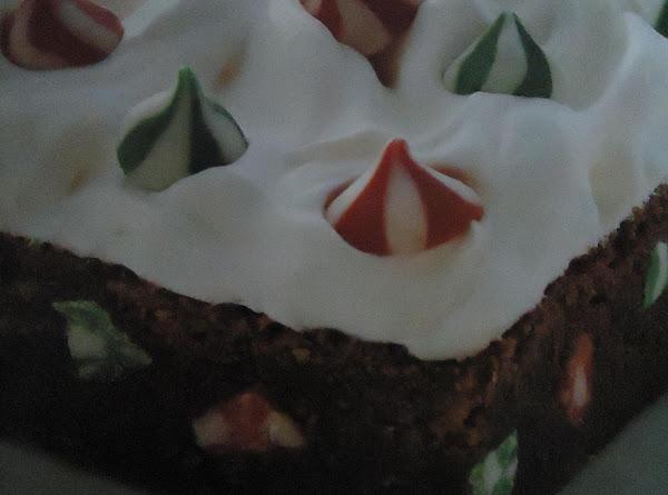 Festive Snow-topped Brownie Bars Recipe