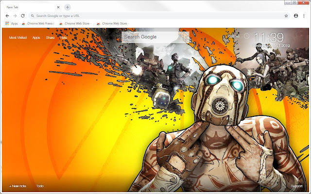 Borderlands HD Wallpapers New Tab Themes