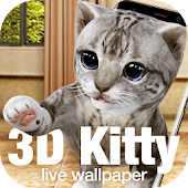 Kitty & cat live wallpaper icon