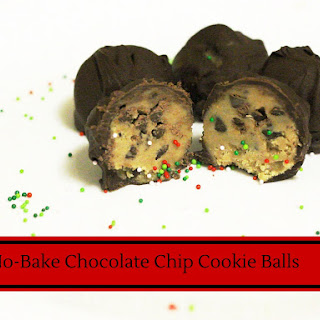 No Bake Chocolate Chip Cookie Balls {12 Days Of Desserts}.
