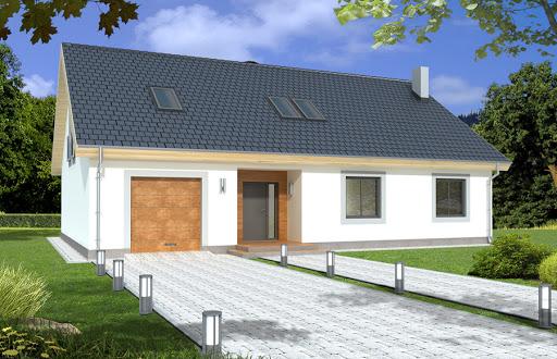 projekt Bartek II wersja B z pojedynczym garażem