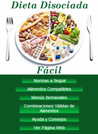 Tabla de alimentos dieta disociada menu