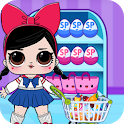 Dolls Games Grocery Store Supermarket Eggs icon