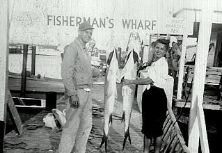 Photo: Tom McMaster and Chase Field nurse Helen Gajda doing a little R 'n R in Port Aransas 1946
