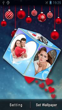 3D Romantic Love Cube HD Live Wallpaper
