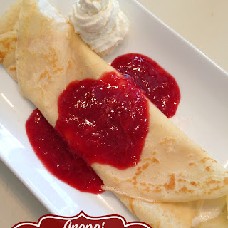 Crepes with Whipped Orange Ricotta & Fresh Strawberry Sauce