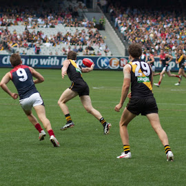 Melbourne vs. Richmond by Paul Sarchuk - Sports & Fitness Australian rules football