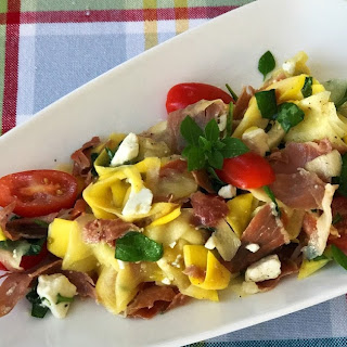 Summer Squash Salad with Prosciutto and Feta Recipe