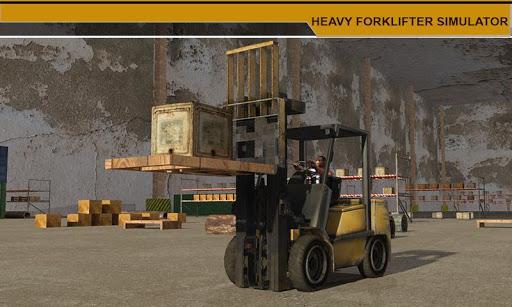 重いフォークリフターシミュレータ