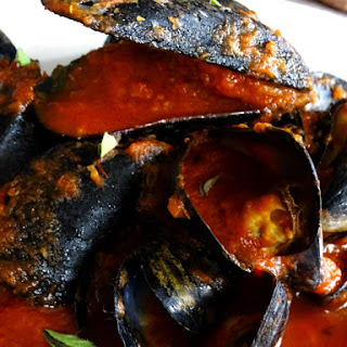 Spicy Summer Mussels.