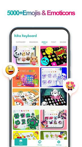 iKeyboard -GIF keyboard,Funny Emoji, FREE Stickers 4.8.2.4176 screenshots 1