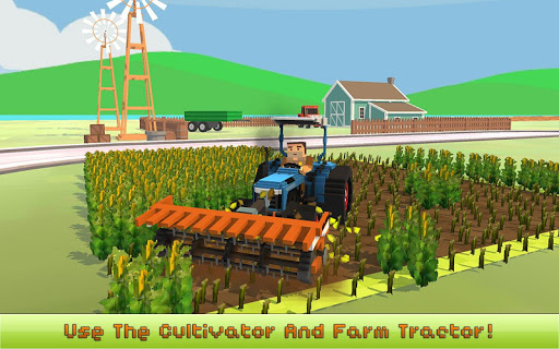 Blocky Farm: Corn Professional 1.4 screenshots 1