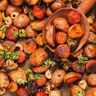 Spanish-Style Potatoes with Chorizo.