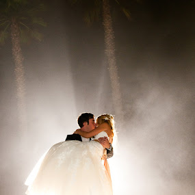 glowing kiss by Scott Nelson - Wedding Bride & Groom