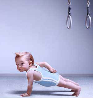 baby one armed push ups