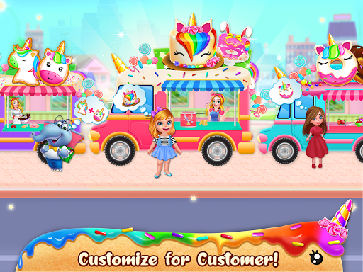 Unicorn Food Bakery Mania: Baking Games android2mod screenshots 12