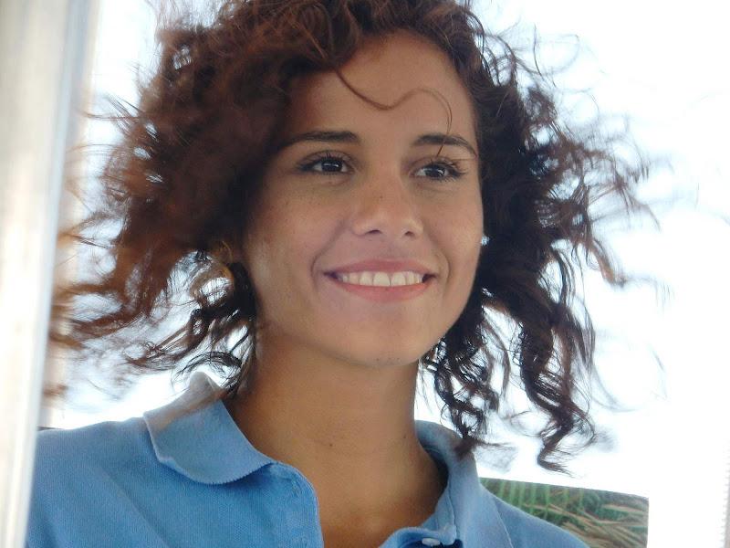A crew member of Vallarta Adventures during an excursion to Las Caletas near Puerto Vallarta, Mexico.