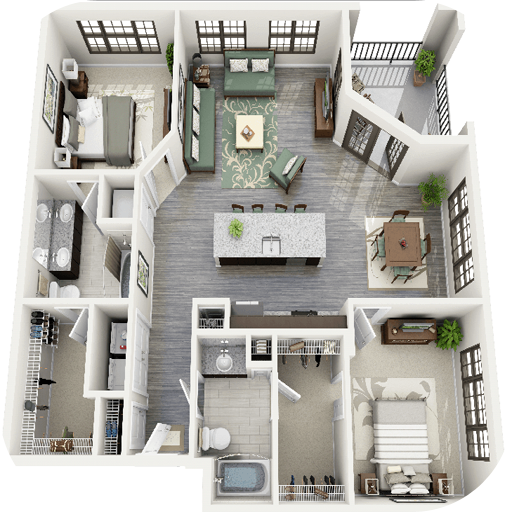 3D House Floor Plan Ideas