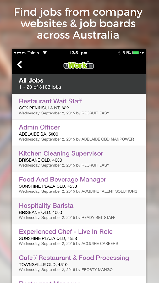 Hospitality Jobs- screenshot