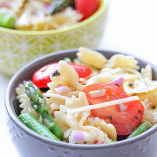 Pasta Salad With Italian Dressing.