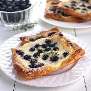 Blueberry, Lemon & Thyme Cheese Danish