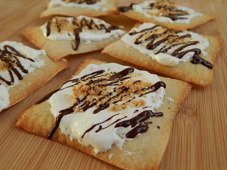 S'Mores Wonton Crisps Recipe