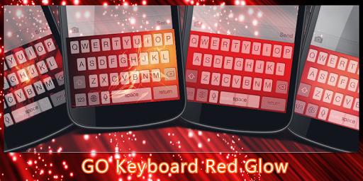 GO Keyboard Red Glow