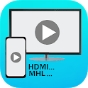 MHL HDMI USB Connector phone with tv icon