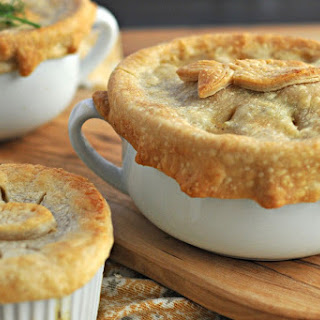 Dilled Salmon & White Bean Pot Pies