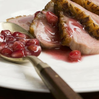 Sweet Fruit Sauce with Sliced Duck.