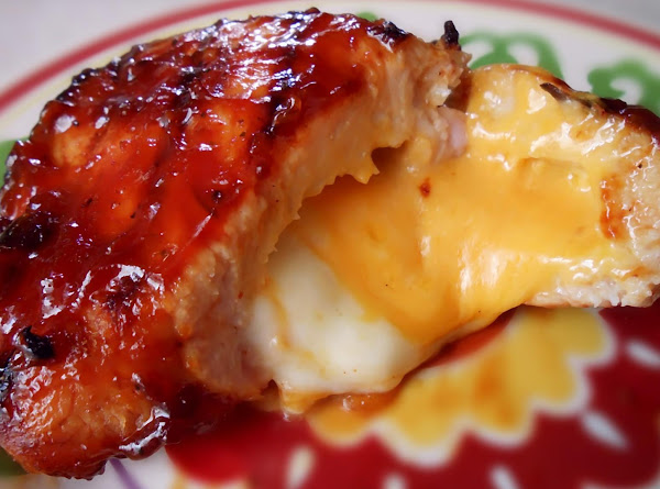 Bbq Cheese Stuffed Pork Chops Recipe