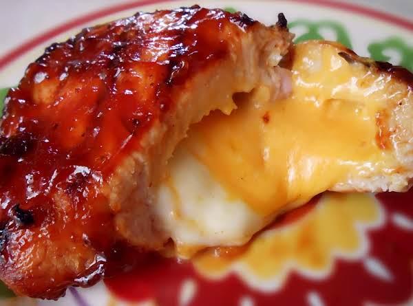 Bbq Cheese Stuffed Pork Chops Recipe