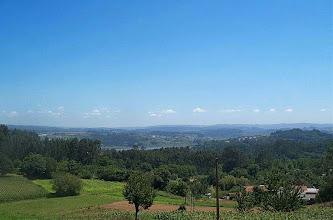 Photo: Vista dende a parroquia de Santa Marta de Babío, ó fondo a ría de Betanzos (2002)