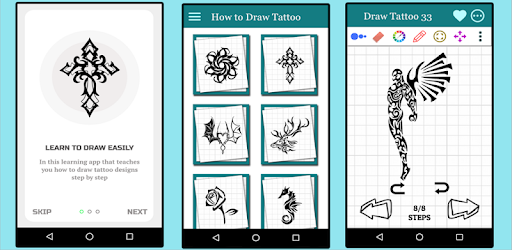 Learn How To Draw Tattoos Step By Step Drawing Apps On Google Play