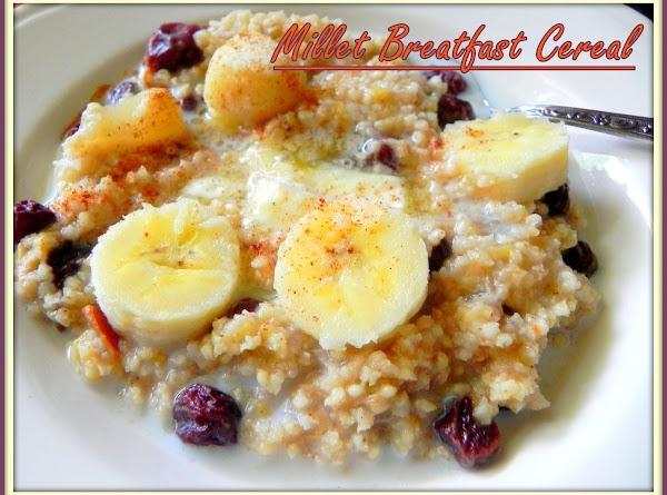 Millet Breakfast Cereal Recipe