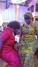Photo: Ndileka dances with guest!