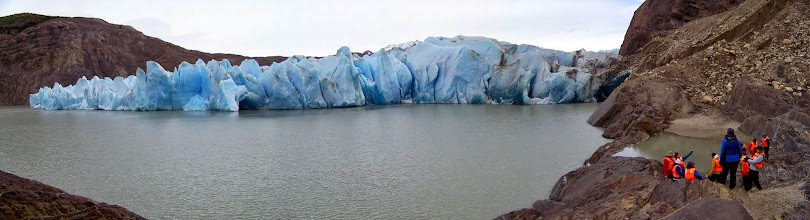 Photo: The east lobe of Glacier Grey