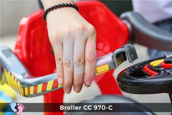 Xe chòi chân Broller CC YH-970C có mái che 7