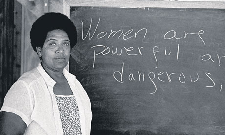 Audre Lorde in front of a 007 1