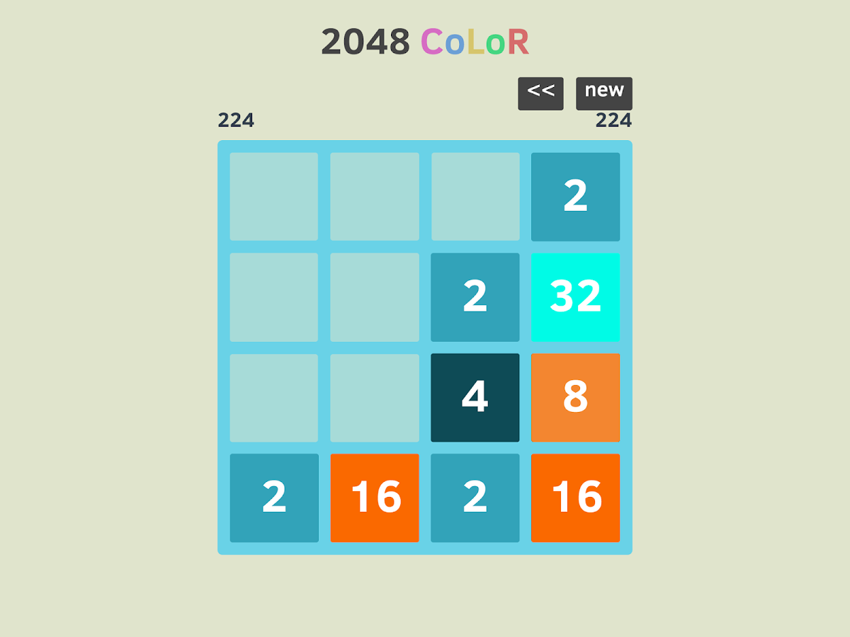 Game for colors - 2048 Number Puzzle Game Colors Screenshot