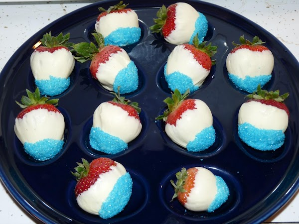 4th Of July White Chocolate Strawberries Recipe