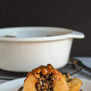 Loaded Baked Apples with Caramel Drizzle.