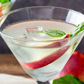 Peach-Basil Margaritas